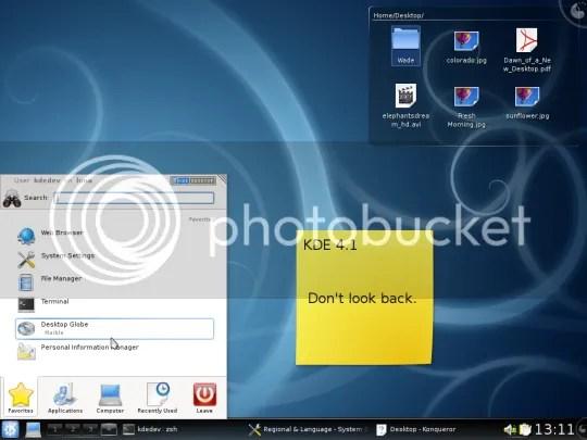 Screenshot Desktop KDE 4.1