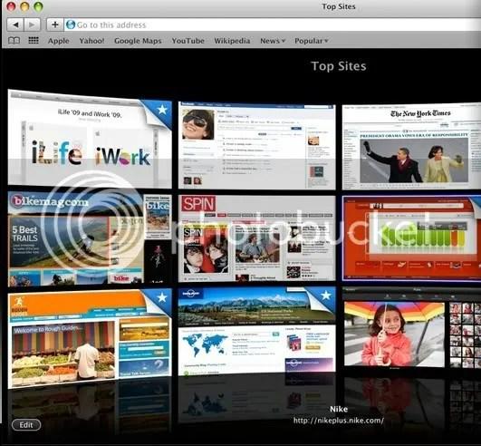 Top Sites di Safari 4