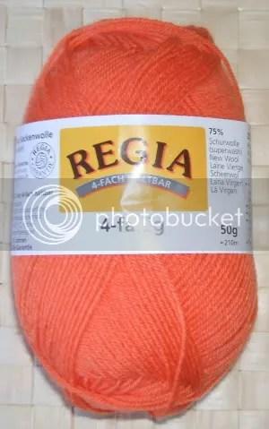 2 x 50 g regia 4-fädig uni - farbe 1259