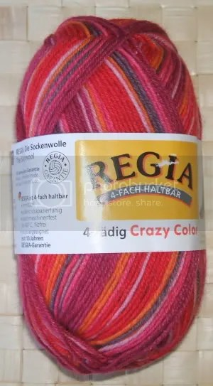 6 x 50 g regia 4-fädig crazy color - farbe 5439