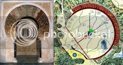 Cordoba mihrab and crescent orientation
