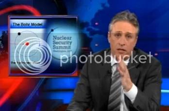 Jon Stewart with NNS logo