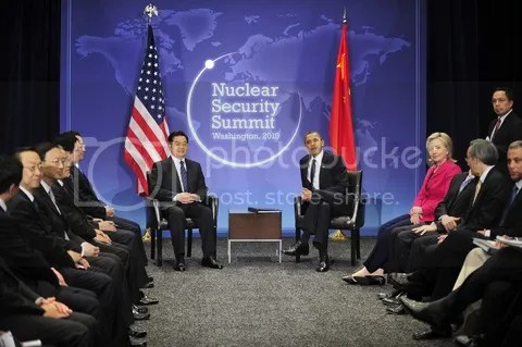 Obama, Hu, et al with NSS10 logo, Ron Sachs photo