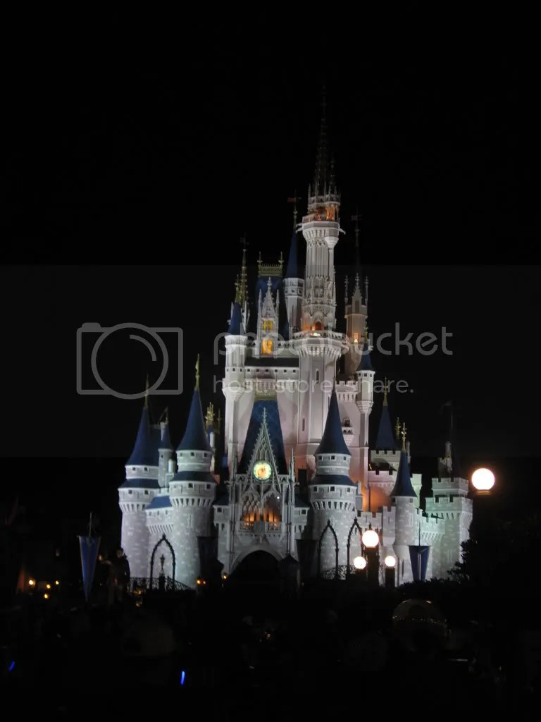 Cinderella's Castle at Night