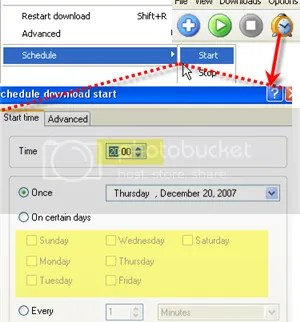 schedule settings with free download manager