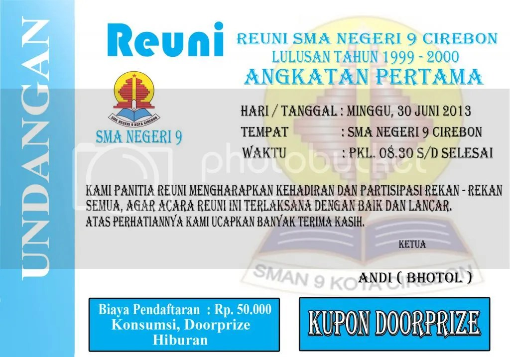 Undangan Reuni Sma Negeri 9 Cirebon By Andri Said Photobucket
