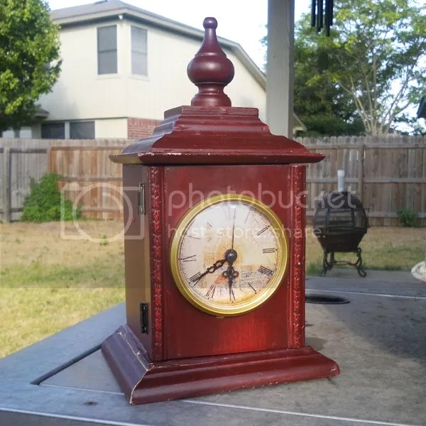 traditional clock refinish repaint