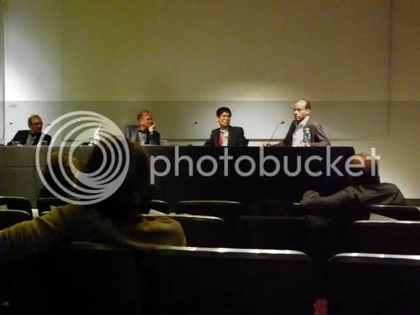 L-R: Yve-Alain Bois, Stephen Melville, Jeff Nguyen, Darby English
