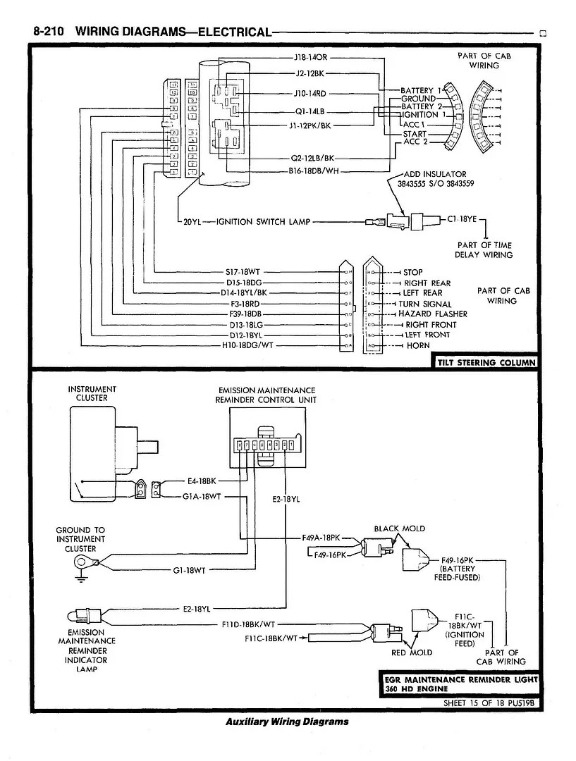 Dodge Ram Ignition Wiring Diagram Auto Electrical Wiring