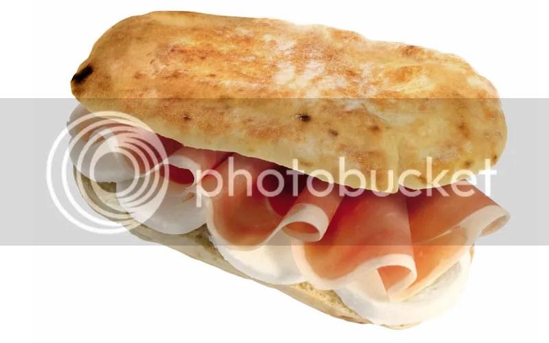 Panino prosciutto e mozzarella