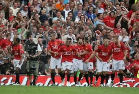 Combined celebrations v Spurs