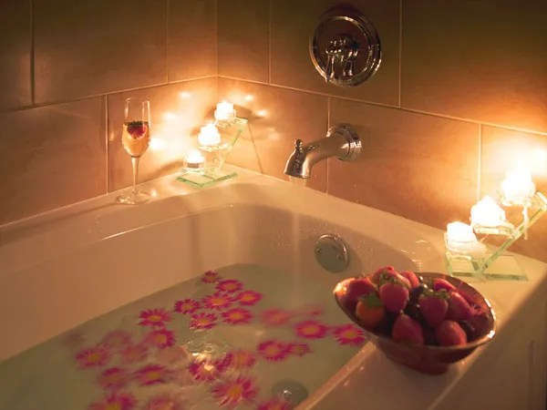 Image result for romantic bath