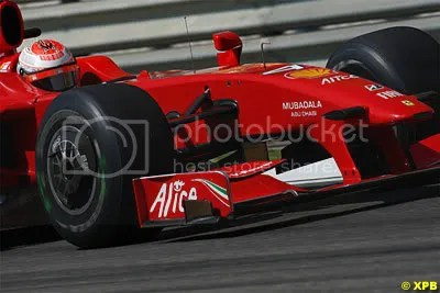 Raikkonen this morning, struggling for pace without KERS