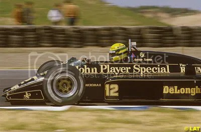 Senna in a JPS Lotus