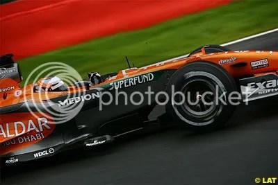 Superfund sponsorship on the 2007 Spyker-Ferrari