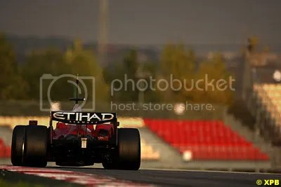 Luca Badoer put new parts through serious mileage in the Ferrari