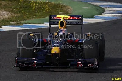 Sebastian Vettel shaking down the RB5
