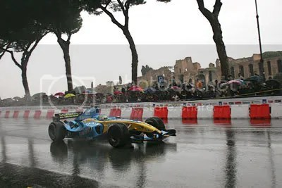 Roman driver Giancarlo Fisichella demonstrated F1 to the city a couple of years ago