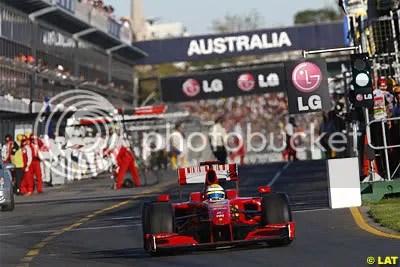 Massa broke down, completing a crap day for Ferrari