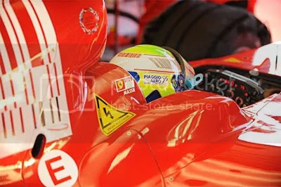 KERS warning on Ferrari F60