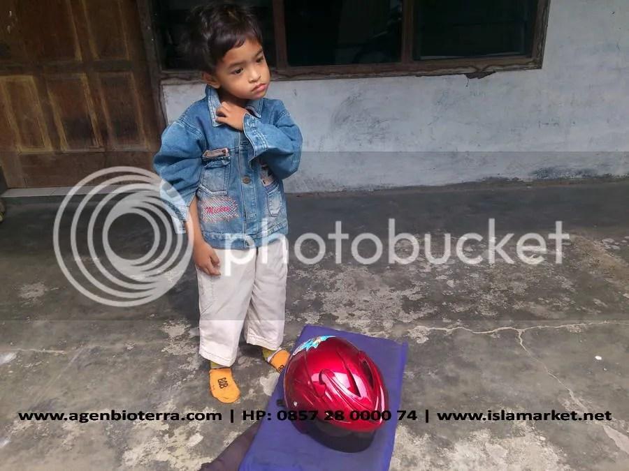 Anak saya, Faris. Ikut ke sragen