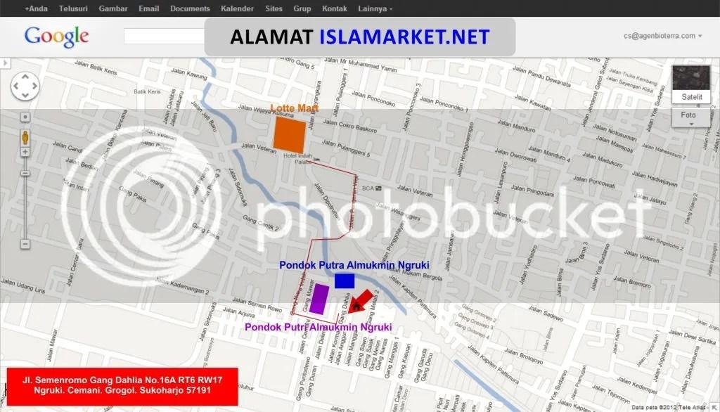 Peta ISLAMARKET.NET setelah dizoom