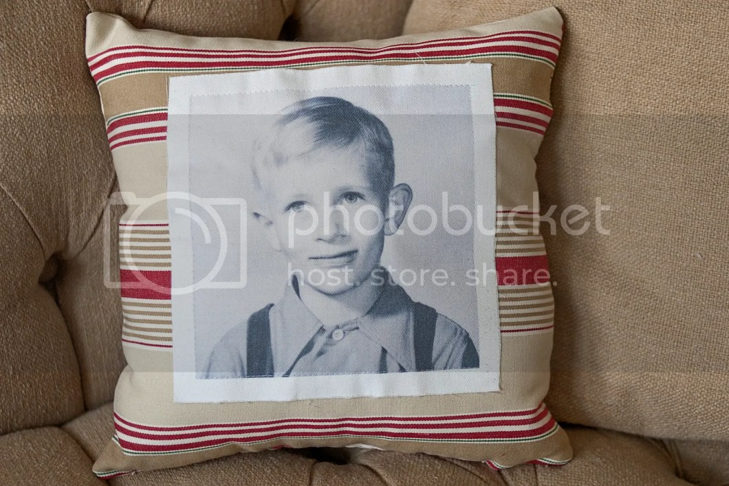 vintage photo pillow