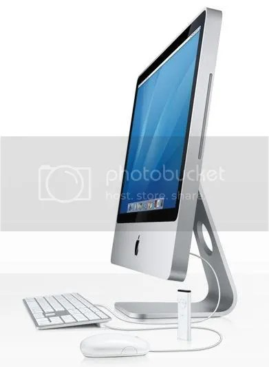 The all new aluminium dressed iMac