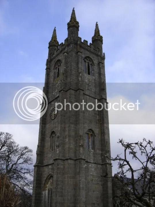 The church clock tower