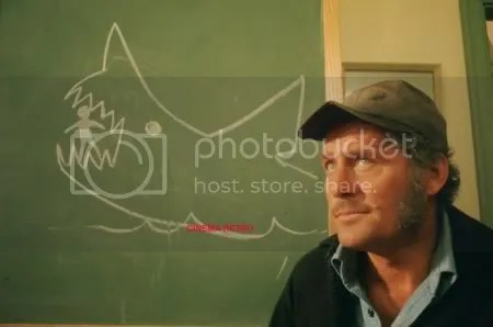 "Robert Shaw as Captain Quint in ""Jaws."""