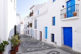 The village of Frigiliana, one of the prettiest and best preserved in Malaga.
