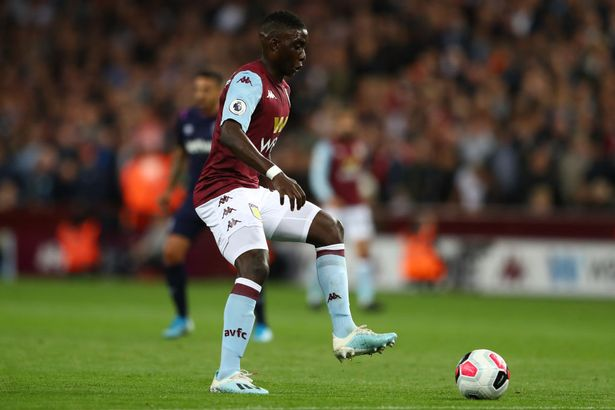 Marvelous Nakamba of Aston Villa during the Premier League match between Aston Villa and West Ham United at Villa Park