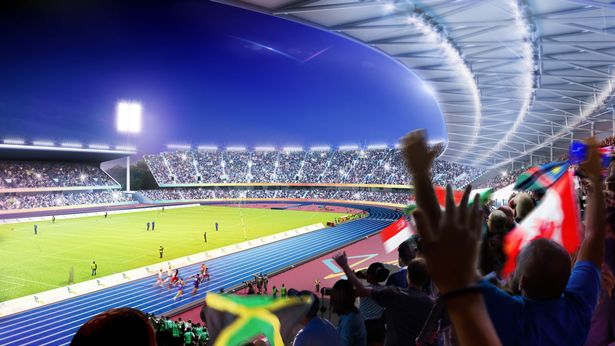 CGI on the appearance of Alexander Stadium for the 2022 Commonwealth Games in Birmingham