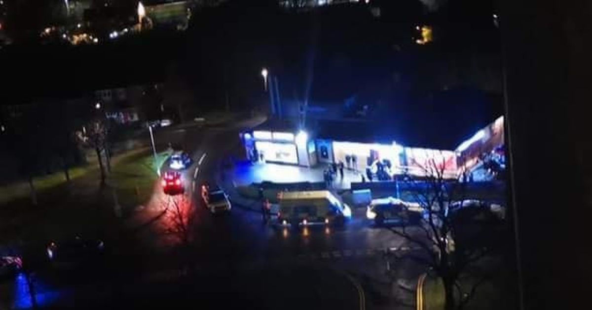 Real-time updates - Officers isolate the area near the Brierley Hill chip shop after a police accident