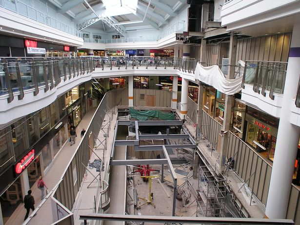 "August 14, 2005: A major overhaul of the Pavilions failed to save it in the long run.  After the closure in May 2016, the redeveloped site reopened on April 11, 2019 as a ""the largest Primark in the world"""