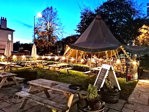 Teepee in the garden at The Physician in Edgbaston