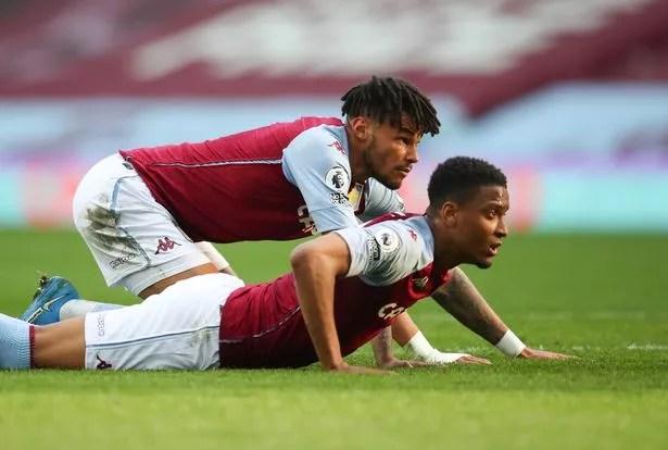 Aston Villa defenders Ezri Konsa and Tyrone Mings