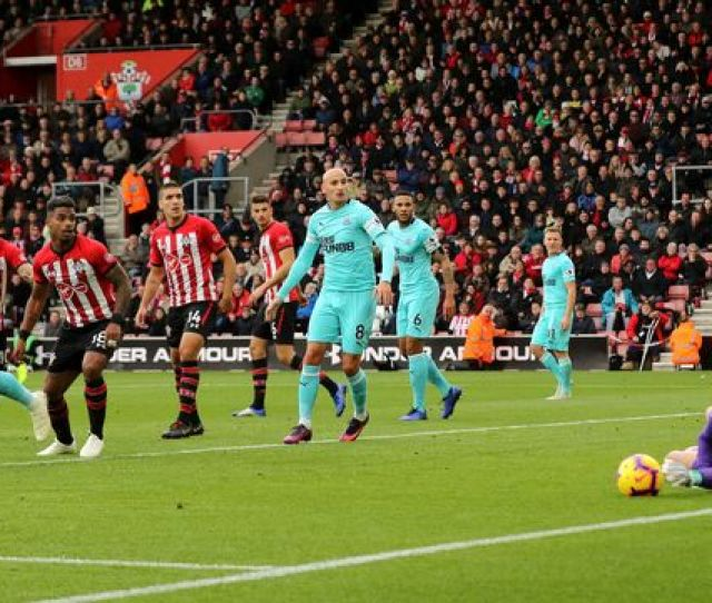 Southamptons Jack Stephens Not Pictured Sees His Shot Saved By Newcastle United Goalkeeper Martin