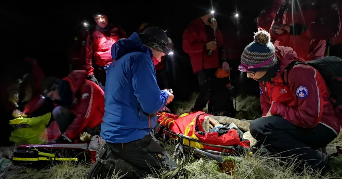 Rescue seven hours after the runner's crash during a tough race in the Cheviot Hills of Northumberland