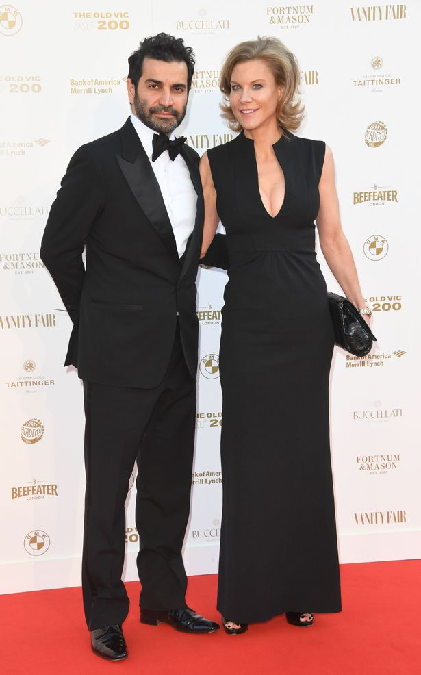 Amanda Staveley and Mehrdad Ghodoussi attend the Old Vic Bicentennial Ball at the Old Vic Theater on May 13, 2018