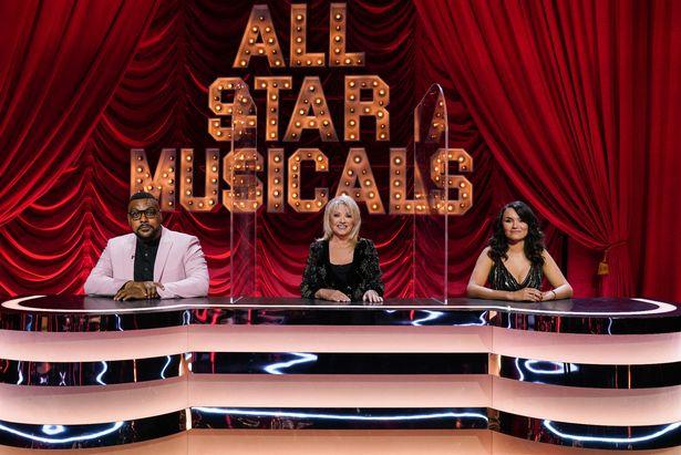 All Star Musical on ITV.  Judges Trevor Devon Nichols, Ellen Page and Samantha Barks.