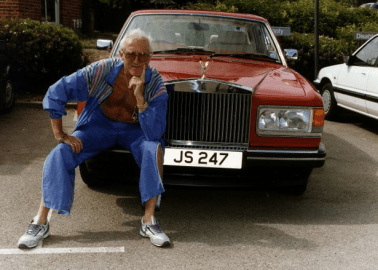 Jimmy Savile with his Rolls-Royce