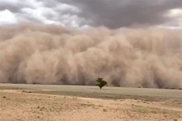The gigantic dust storm approaching Jason on his farm in New South Wales