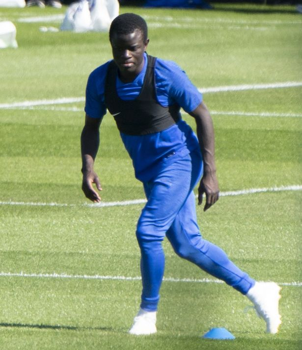 N'Golo Kante returned to Chelsea training with a full head of hair