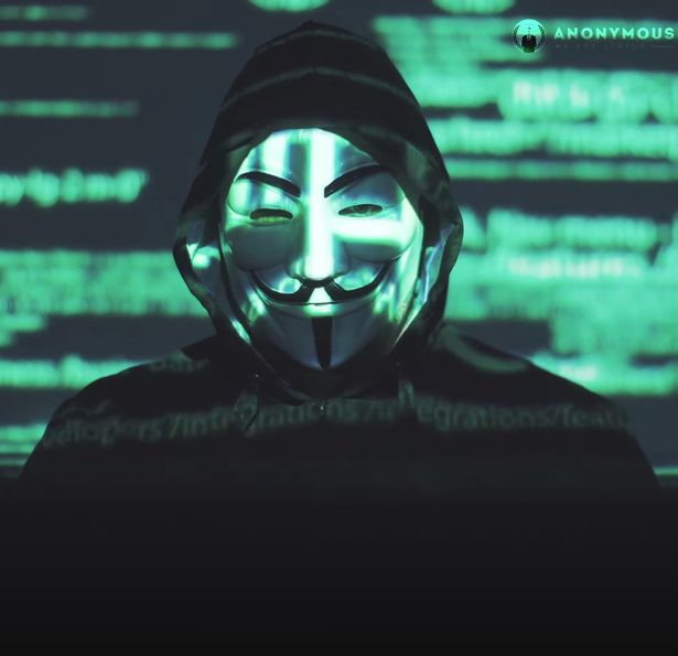 A so-called hacker claiming to be from Anonymous