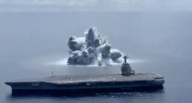 The bomb detonated next to the ship