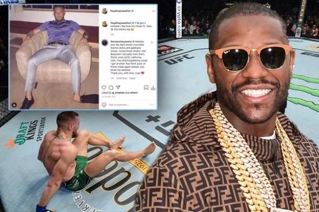 Floyd Mayweather trolls Conor McGregor following broken leg at UFC 264