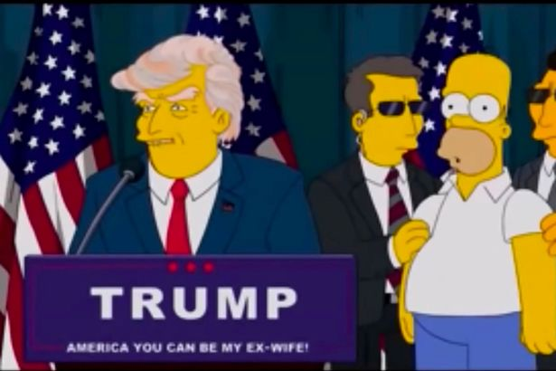"""The Simpsons' predicted President Trump way back in 2000"""""""