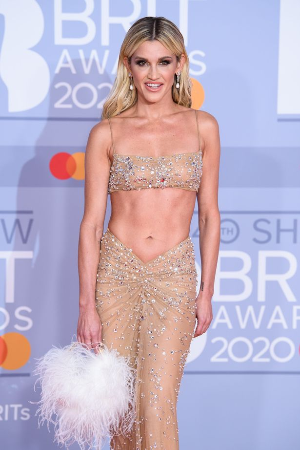 Ashley looked every inch the star as she wore a sheer number in 2020