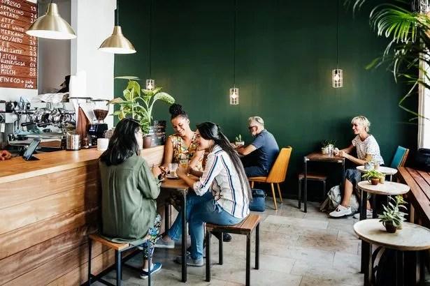 people in coffee shop